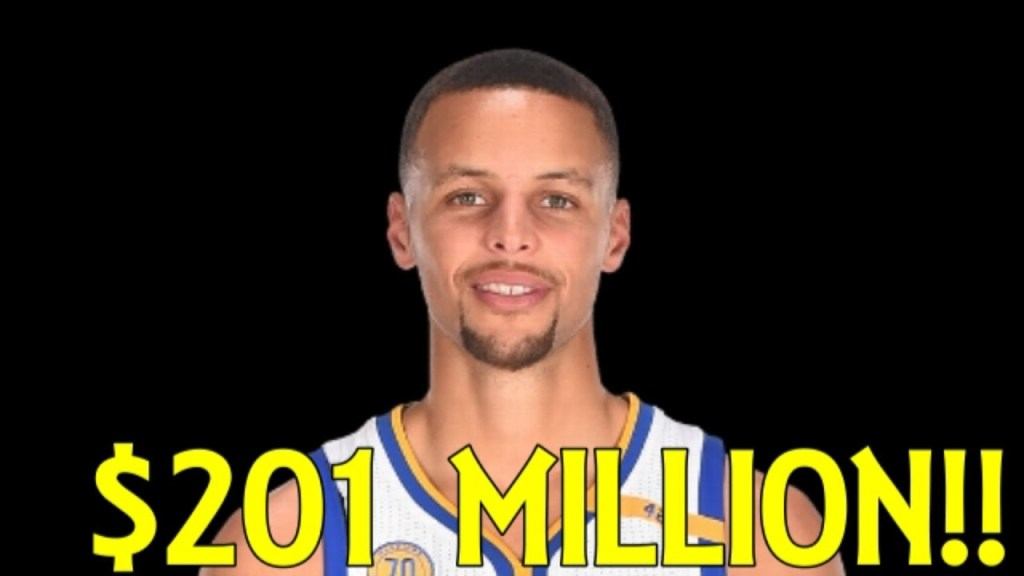 Steph Curry, with a five-year $201 million contract.