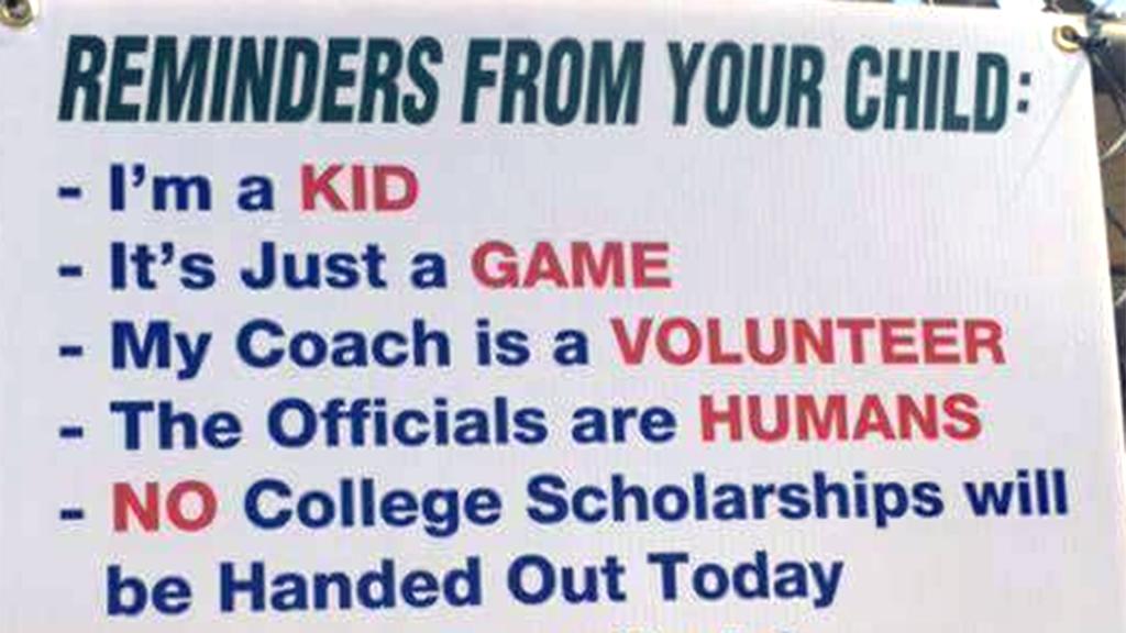Little League sign for parents